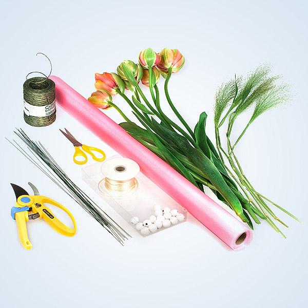 Ножку для цветов из бумаги